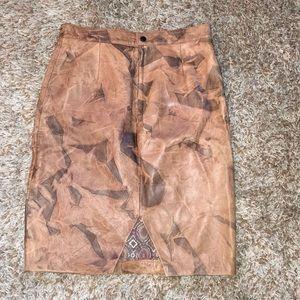 Zerimar vintage leather skirt